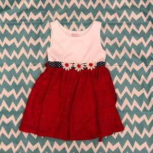 Toddler red white and blue dress 3t